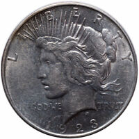 1923 D WITH LOTS OF DIE BREAKS OBVERSE PEACE SILVER DOLLAR SHIPS FREE