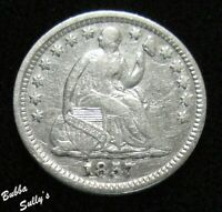 1857 SEATED LIBERTY HALF DIME <> F TO VF DETAILS