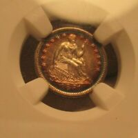 1851-O SEATED LIBERTY HALF DIME UNC DETAILS