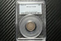 1842 O SEATED LIBERTY DIME PCGS VF30