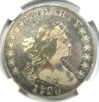 1798 DRAPED BUST SILVER DOLLAR $1 BB-105 - CERTIFIED NGC VF DETAILS -  COIN