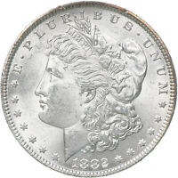 1882 MORGAN SILVER DOLLAR BU US MINT COIN