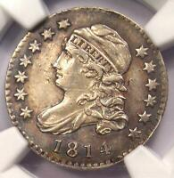 1814 STATESOF CAPPED BUST DIME 10C JR-5 - NGC AU DETAILS-  VARIETY COIN