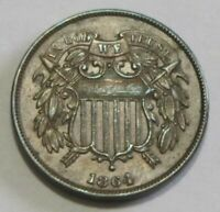 STUNNING 1864 2 CENT PIECE LARGE MOTTO 180 DIE ROTATION UNCIRCULATED