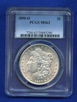 1890 O PCGS MINT STATE 63 MORGAN SILVER DOLLAR $1 BETTER DATE 1890-O PCGS MINT STATE 63