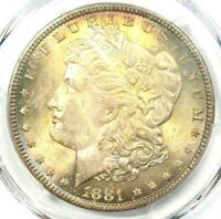 1881-P MORGAN SILVER DOLLAR $1 COIN 1881 - PCGS MINT STATE 65 PLUS GRADE - $675 VALUE