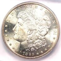 1885-S MORGAN SILVER DOLLAR $1 COIN - ICG MINT STATE 65 -  IN MINT STATE 65 - $1,880 VALUE
