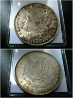 1882 P MORGAN SILVER DOLLAR CHOICE EXTRA FINE  COIN  ORIGINAL TONED