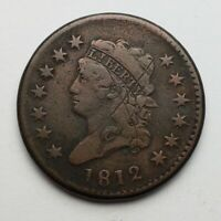 1812 CLASSIC HEAD LARGE CENT S-289 FINE DAMAGED