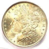 1881-P MORGAN SILVER DOLLAR $1 - ICG MINT STATE 66 -  IN MINT STATE 66 - $1,940 VALUE