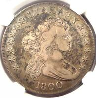 1800 DRAPED BUST SILVER DOLLAR $1 COIN  BB-193, B-19, RARITY-4 - NGC VF DETAIL