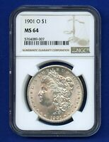 1901 O NGC MINT STATE 64 MORGAN SILVER DOLLAR $1 BETTER DATE 1901-O NGC MINT STATE 64 PQ COIN