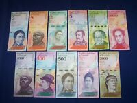 LOT OF 11 DIFFERENT BANK NOTES FROM VENEZUELA UNCIRCULATED