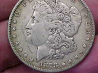 1878 P 7 TF TAIL FEATHERS MORGAN SILVER DOLLAR FULL RIM DATE LETTERING LIBERTY