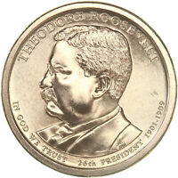 2013 P PRESIDENTIAL DOLLAR THEODORE ROOSEVELT CHOICE BU CLAD US COIN