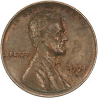 1951 S LINCOLN WHEAT CENT ABOUT UNCIRCULATED PENNY AU