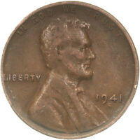 1941 S LINCOLN WHEAT CENT LARGE S  FINE PENNY VF