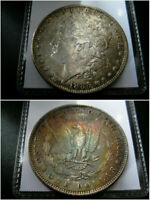 1885 P MORGAN SILVER DOLLAR CHOICE UNC COIN  ORIGINAL TONED