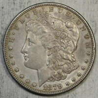 1879-S MORGAN DOLLAR, REVERSE OF 1878, VAM 9, FIRST 1879-S DOLLAR STRUCK?, EF