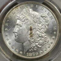 1879-S MORGAN DOLLAR, REVERSE OF 1878, VAM 52, PCGS MINT STATE 62, FIRST 1879-S DOLLAR?