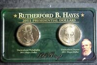 2011 - P&D RUTHERFORD B. HAYES PRESIDENTIAL GOLDEN DOLLAR COIN SET I1737