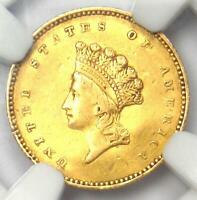 1854 TYPE 2 INDIAN GOLD DOLLAR  G$1 COIN    NGC XF DETAILS    TYPE TWO