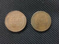 1910 & 1910 S SAN FRANCISCO LINCOLN WHEAT CENTS