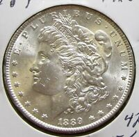 1754 1889 MORGAN SILVER DOLLAR BRIGHT AND PRETTY