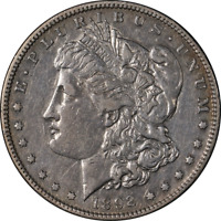 1892-S MORGAN SILVER DOLLAR CHOICE EXTRA FINE  GREAT EYE APPEAL STRONG STRIKE