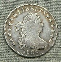 1802 DRAPED BUST DIME
