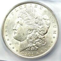 1901 MORGAN SILVER DOLLAR $1 1901-P - ICG MINT STATE 60 DETAILS UNC -  IN MINT STATE 60