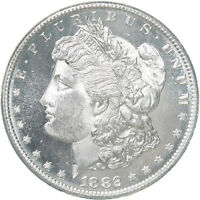 1882 S MORGAN SILVER DOLLAR CHOICE BU US MINT COIN PROOFLIKE SEE PICS E015
