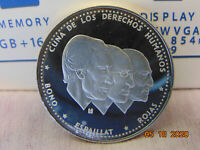DOMINICAN REPUBLIC 1983 PROOF  MEDIO PESO SILVER