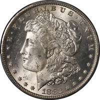 1882-CC MORGAN SILVER DOLLAR PCGS MINT STATE 64 BLAST WHITE GREAT EYE APPEAL