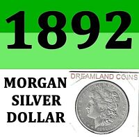 1892 MORGAN BRIGHT CLEAR USED SILVER DOLLARUSEDSILVER