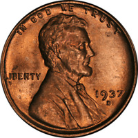 1937-D LINCOLN CENT  BU - STOCK
