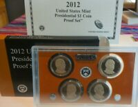 2012 S U.S. MINT PRESIDENTIAL 4 COIN $1 PROOF SET KEY DATE