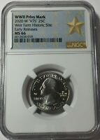 2020 W NGC MS66 WEIR W MINT QUARTER W/ V75 PRIVY EARLY RELEA