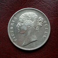 INDIA 1840WW RAISED SILVER RUPEE