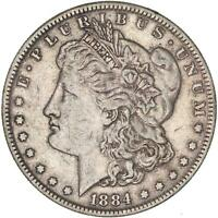1884 MORGAN SILVER DOLLAR  FINE VF