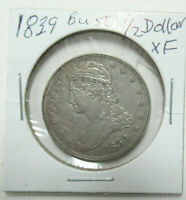 US 1839 CAPPED BUST SILVER HALF DOLLAR IN XF CONDITION   NIC