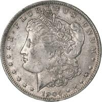 1904 O MORGAN SILVER DOLLAR ABOUT UNCIRCULATED AU SEE PICS C163