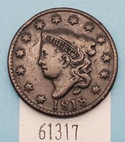 WEST POINT COINS  1818 LARGE CENT N.6 R1