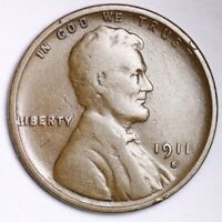 1911-S LINCOLN WHEAT SMALL CENT CHOICE VG SHIPS FREE E142 KCM