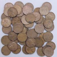 1948 S LINCOLN WHEAT CENT ROLL 50 CIRCULATED PENNIES US COINS