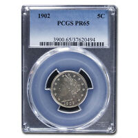 1902 LIBERTY HEAD V NICKEL PR-65 PCGS - SKU213281