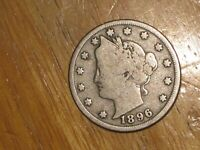 US 1896 LIBERTY NICKEL COIN GOOD