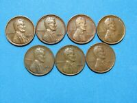 1936 1937 1938 1939 1940 1941 1942 LINCOLN WHEAT CENT PENNIES