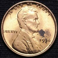 1934 LINCOLN WHEAT CENT PENNY CHOICE BU RED SHIPS FREE E825 KM