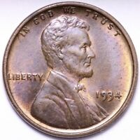 1934 LINCOLN WHEAT CENT PENNY CHOICE BU SHIPS FREE E830 GN
